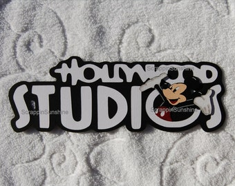 DISNEY - Hollywood Studios Die Cut Title Paper Piece for Scrapbook Pages - SSFF