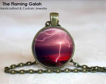 LIGHTENING STRIKE Pendant • Spectacular Lightening Bolt • Gift Under 20 • Made in Australia (P0341)