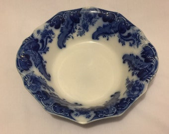 "9"" Round Vegetable Bowl Argyle Flow Blue by Grindley"