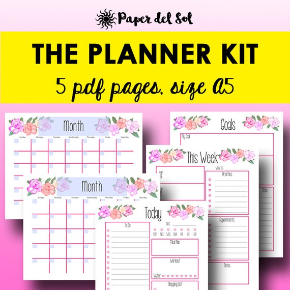 Daily Calendar 2018 Download : Planner printable weekly daily
