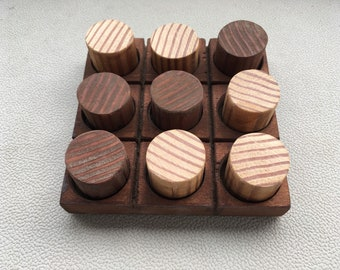 Wooden Tic Tac Toe Travel Game