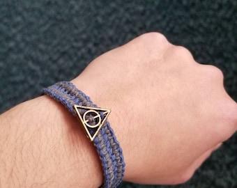 Ravenclaw Deathly Hallows - hemp bracelet