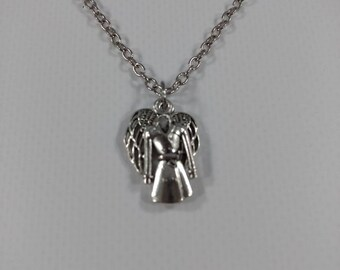 Supernatrual Inspired My Guardian Angel Wears A Trenchcoat Necklace