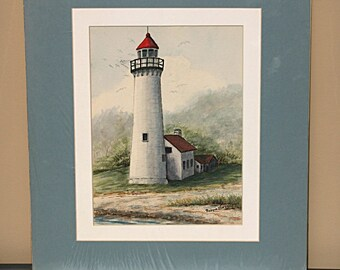 Presque Isle Lighthouse - Signed Original Watercolor - Large