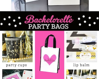Bachelorette Party Ideas - Wedding Survival Kit Bags - Bachelorette Party Favors - Bachelorette Weekend Bags (EB2401) - set of 6| Bags ONLY