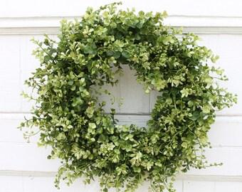 Merveilleux Boxwood Wreath, Farmhouse Decor, Front Door Wreath, Green Wreath, Year  Round Wreath, Outdoor Wreath, Everyday Wreath, Wedding Wreath, Wreath