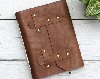 Tan Brown Briefcase A5 Leather Journal
