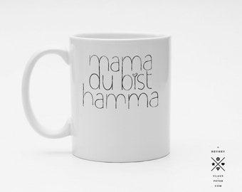 Ξ cupcup | tasse | mama du bist hamma | muttertag | familie | familiengeschenk | mama und papa