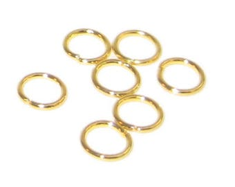 7mm Gold-Coated Jump Ring - approx. 140 rings