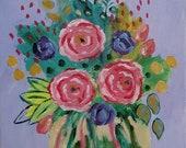 8x10 original floral abst...
