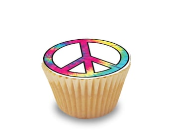 Tie Dye edible image for cakes, cupcakes or cookies