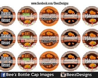 INSTANT DOWNLOAD- Count your blessings- 1inch Bottlecap Images- 4x6 Digital Sheet