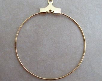24 gold beading hoops 30mm
