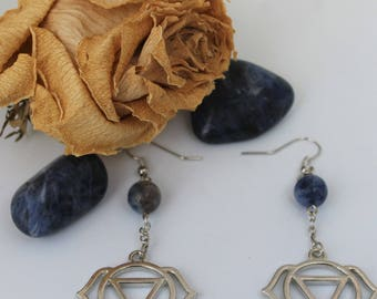 Third Eye Chakra Sodalite Earrings