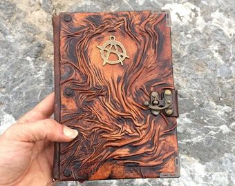 Steampunk Journal, Leather Journal, Leather Notebook, Leather Diary, Gift Idea