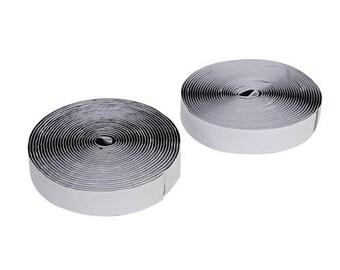 Self Adhesive Hook And Loop Tape (velcro) 25mm X 5M Black