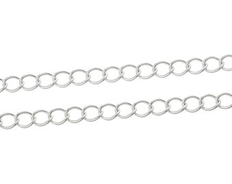 BULK - Silver Curb Chain - 32 feet - #CH37582