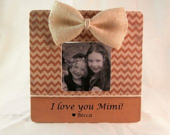 I love my mimi gift birthday Mothers day gift for mimi picture frame