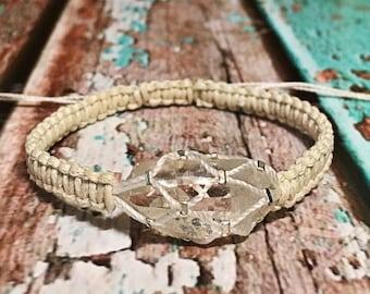 Raw Clear Quartz Bracelet / Chakra Healing Bracelet / Healing Crystal Bracelet / Raw Crystal Jewelry