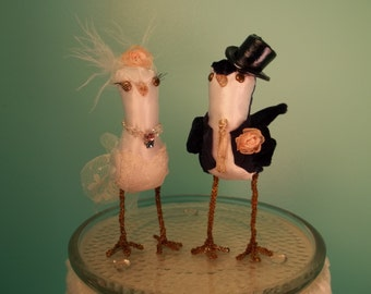 Wedding Cake Topper Custom made to order FerdiBirds miniature love birds