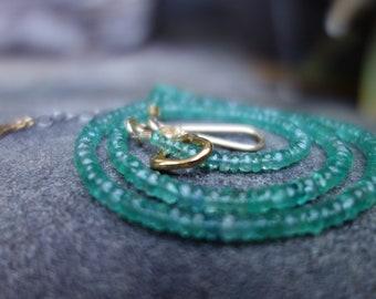 Emerald Vermeil Beaded Necklace
