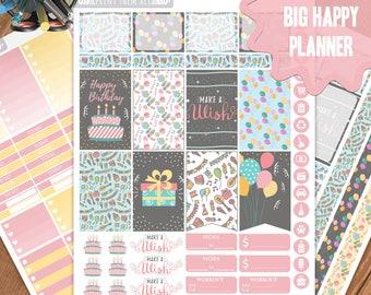 Birthday Planner Stickers Printable, Big Happy Planner Stickers, Weekly Planner Kit, Planner Stickers, Big MAMBI Planner Stickers,Big HP Kit