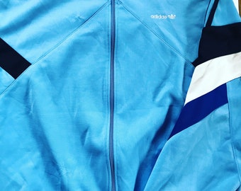 Vintage Adidas Trefoil Jacket / Mens / Womens / XL / Blue / Sweatshirt / Tracksuit / Track Top / Windbreaker / Activewear / Sportswear