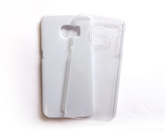 Samsung Galaxy s6 Phone Case in white or transparent for DIY project made of plastic plain and blank