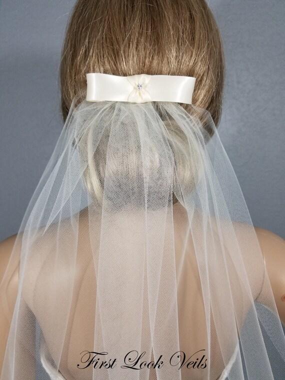 "Ivory Bridal Veil, Cathedral Veil, Length, 90""x108"", Bridal Bow Veil, Wedding Vail,  Bridal Viel, Bridal Attire, Bridal Accessory, Wedding"