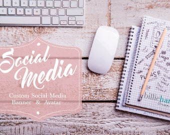 Social Media Banner, Facebook Banner Design, Branding, Facebook Cover, Avatar, Etsy Banner, Twitter, Instagram, Pinterest, Youtube