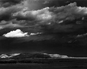 Ansel Adams, original, The Edge of Great Plains, Cimarron, 1961, New Mexico, yosemite, fine art picture photograph print poster canvas