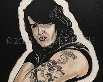 Wolfs Blood Original Danzig Painting