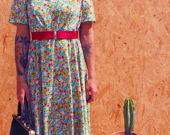 Vintage 1970's french hand sewn dress