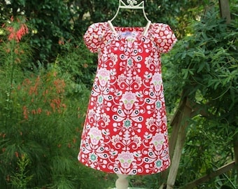 Pretty Scan Design Girls Red Dress   Only one available in size 4T