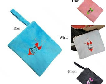 Terry Cloth Water Proof Wet Bikini Bag