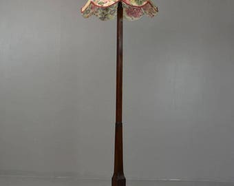 Art Deco Walnut Standard Lamp