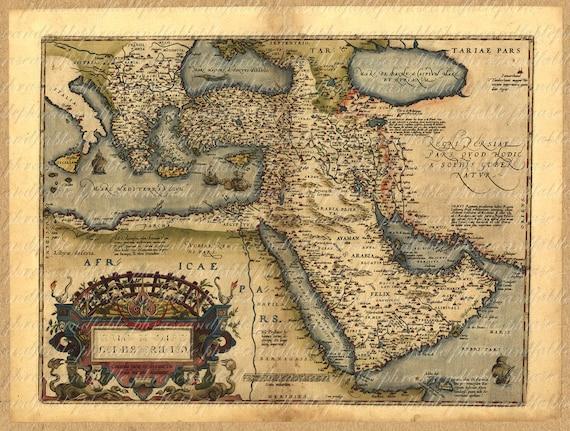 Map of the middle east from the 1500s persia saudi arabia map of the middle east from the 1500s persia saudi arabia cyprus turkey iran iraq dubai israel digital 044 gumiabroncs Gallery