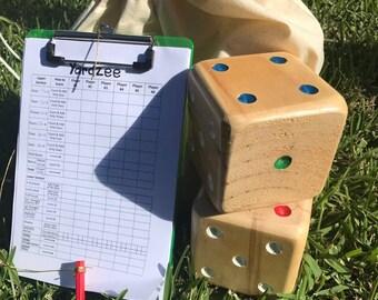 Yardzee / Outdoor Yahtzee / Yard Yahtzee / Lawn Game / Lawn Yahtzee / Giant Lawn Games