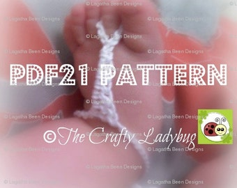 My First Thongs crochet pattern - PDF21 digital download