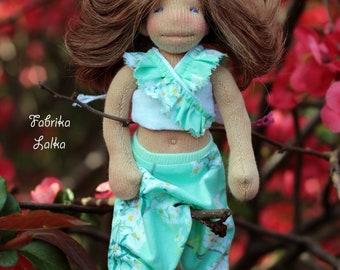 Ayati, tiny yogini waldorf inspired doll