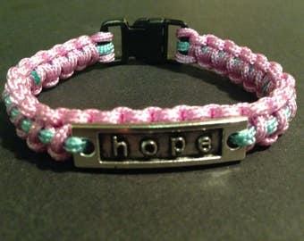 Pastel bracelet with hope charm