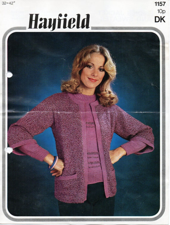 womens cardigan sweater knitting pattern pdf ladies edge to edge ...