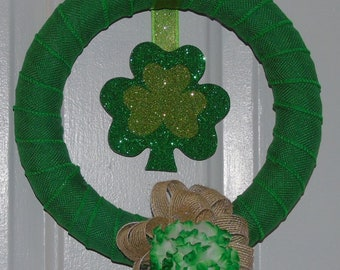 Small St. Patrick's Day Shamrock Wreath-CLEARANCE!!