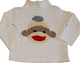Sock Monkey Turtleneck Shirt - Boys 24 Month (2T)