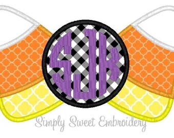 Candy Corn Monogram Applique