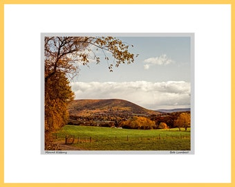 Mount Nittany at Penn State photo, State College, PA - Hand Signed and Titled (11x14 matted photograph)
