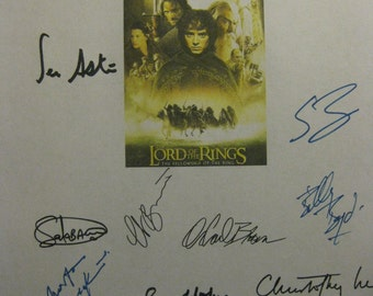 The Lord of the Rings Fellowship of the Ring Signed Movie Film Script X18 Autograph Elijah Wood Sean Bean Astin Peter Jackson Orlando Bloom