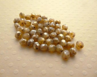 Set of 50 4 mm Gold Luster - F4 1537