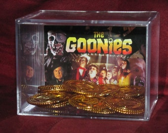 """The Goonies """"Gold Coins of One Eyed Willy"""" Collectible Display.....We Combine Shipping On All"""