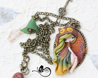 polymer clay necklace /country collection/ fimo / clay / polymerclay/ autumn